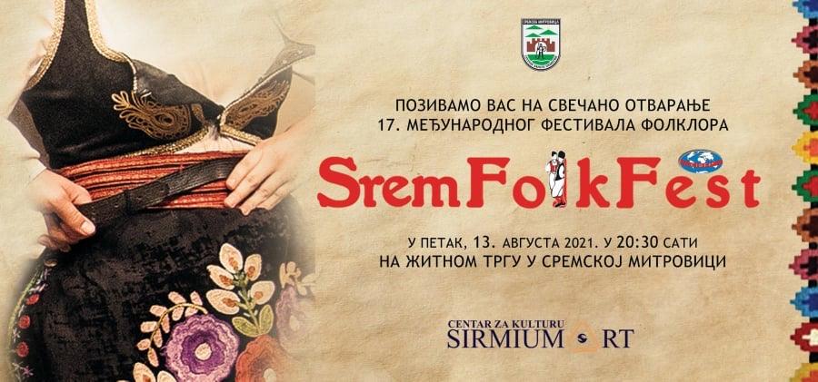 "Najveći međunarodni festival folkora ""Srem Folk Fest"" 13. i 14. avgusta"